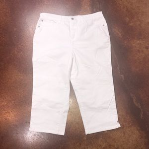 Christopher & Banks 16 white denim capris